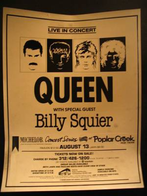 Poster - Queen in Chicago on 13.08.1982