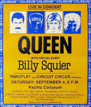 Poster - Queen in Vancouver on 04.09.1982