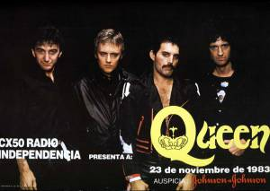 Poster - Queen in Uruguay on 23.11.1983 [cancelled concert]