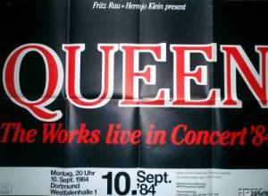 Poster - Queen in Dortmund on 12.09.1984 (wrong date)