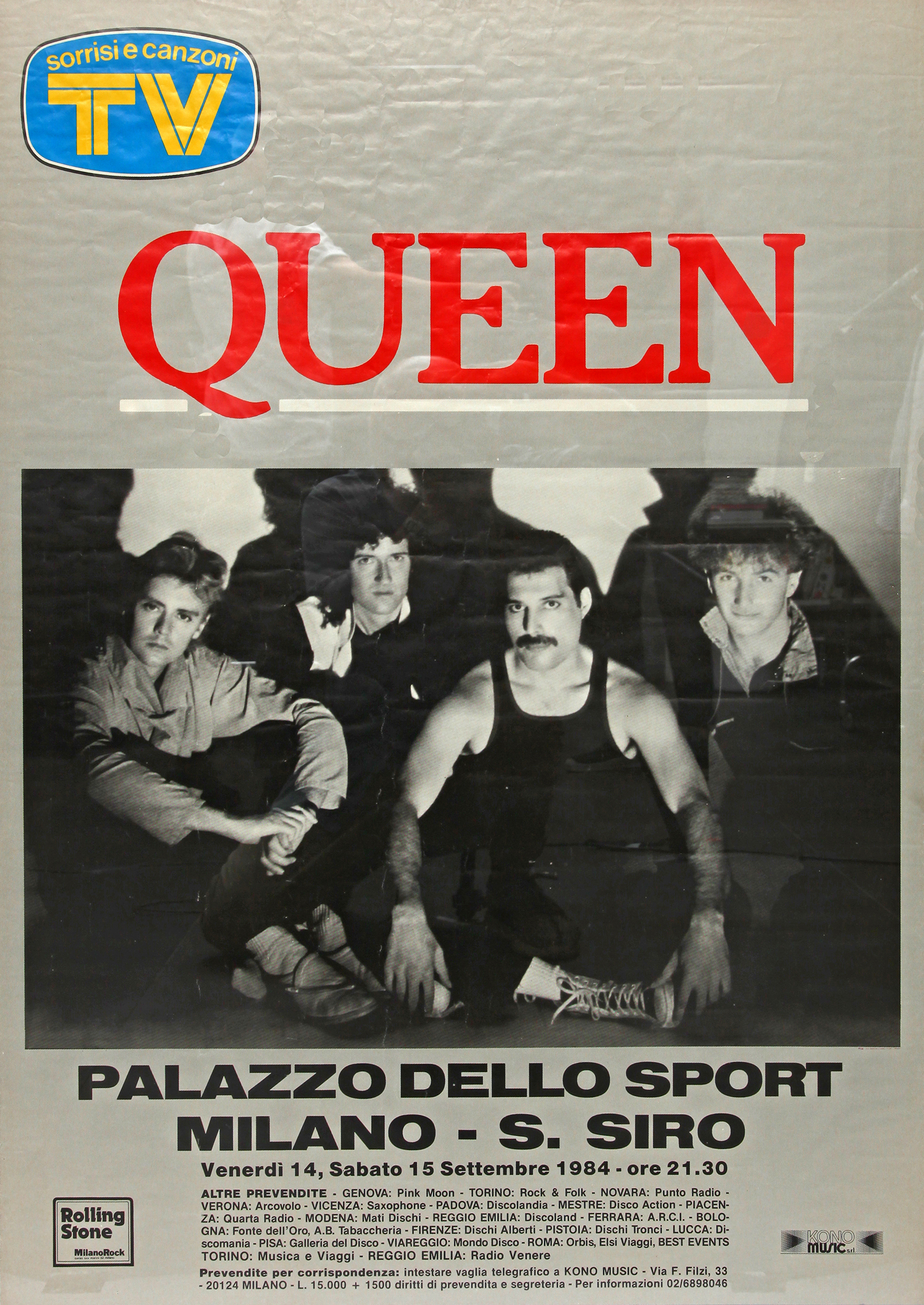Queen in Milan on 14.-15.09.1984
