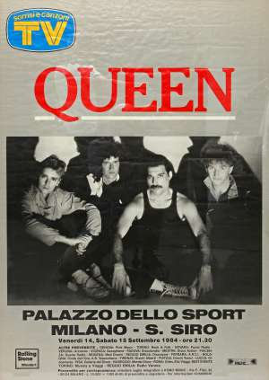 Poster - Queen in Milan on 14.-15.09.1984