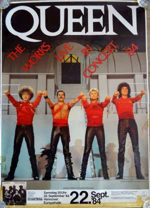 Poster - Queen in Hannover on 22.09.1984