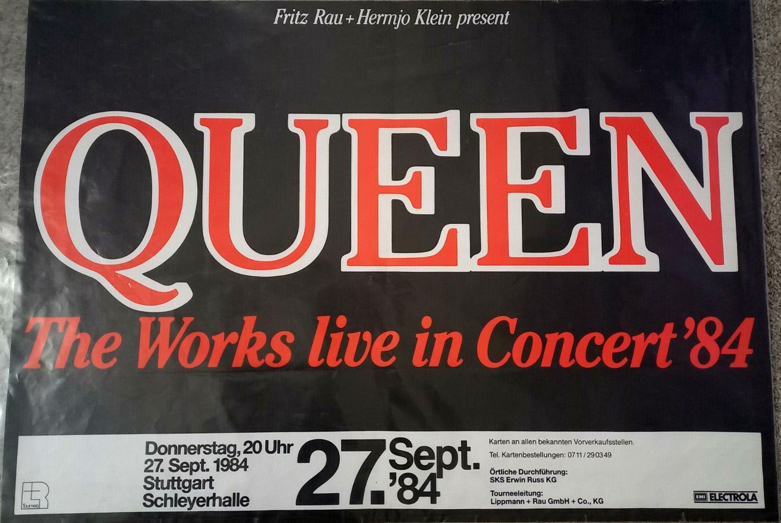 Queen in Stuttgart on 27.09.1984