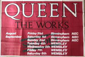 Poster - UK leg of the Works tour