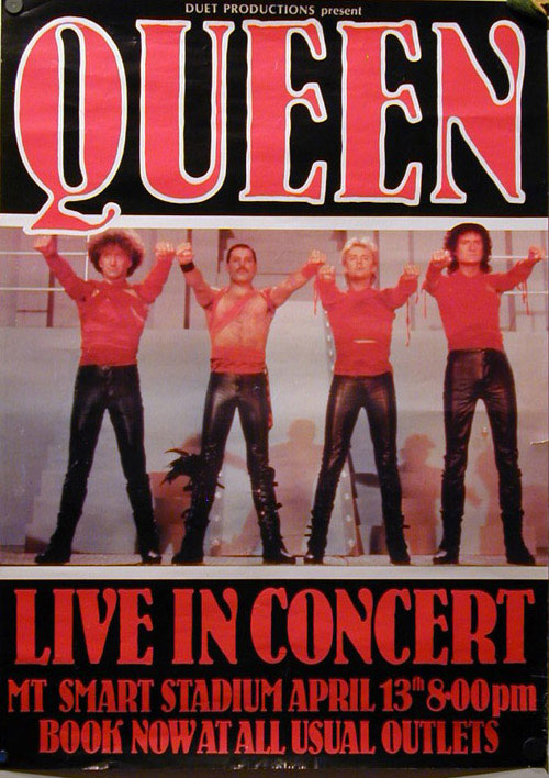 Queen in Auckland on 13.04.1985