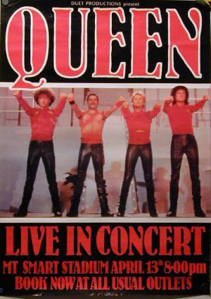 Poster - Queen in Auckland on 13.04.1985