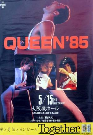 Poster - Queen in Osaka on 15.05.1985