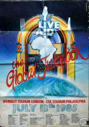 Poster - Queen on the Live Aid festival on 13.07.1985
