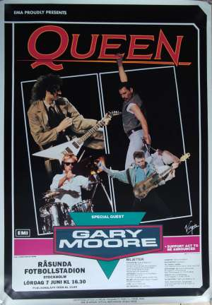 Poster - Queen in Stockholm on 07.06.1986
