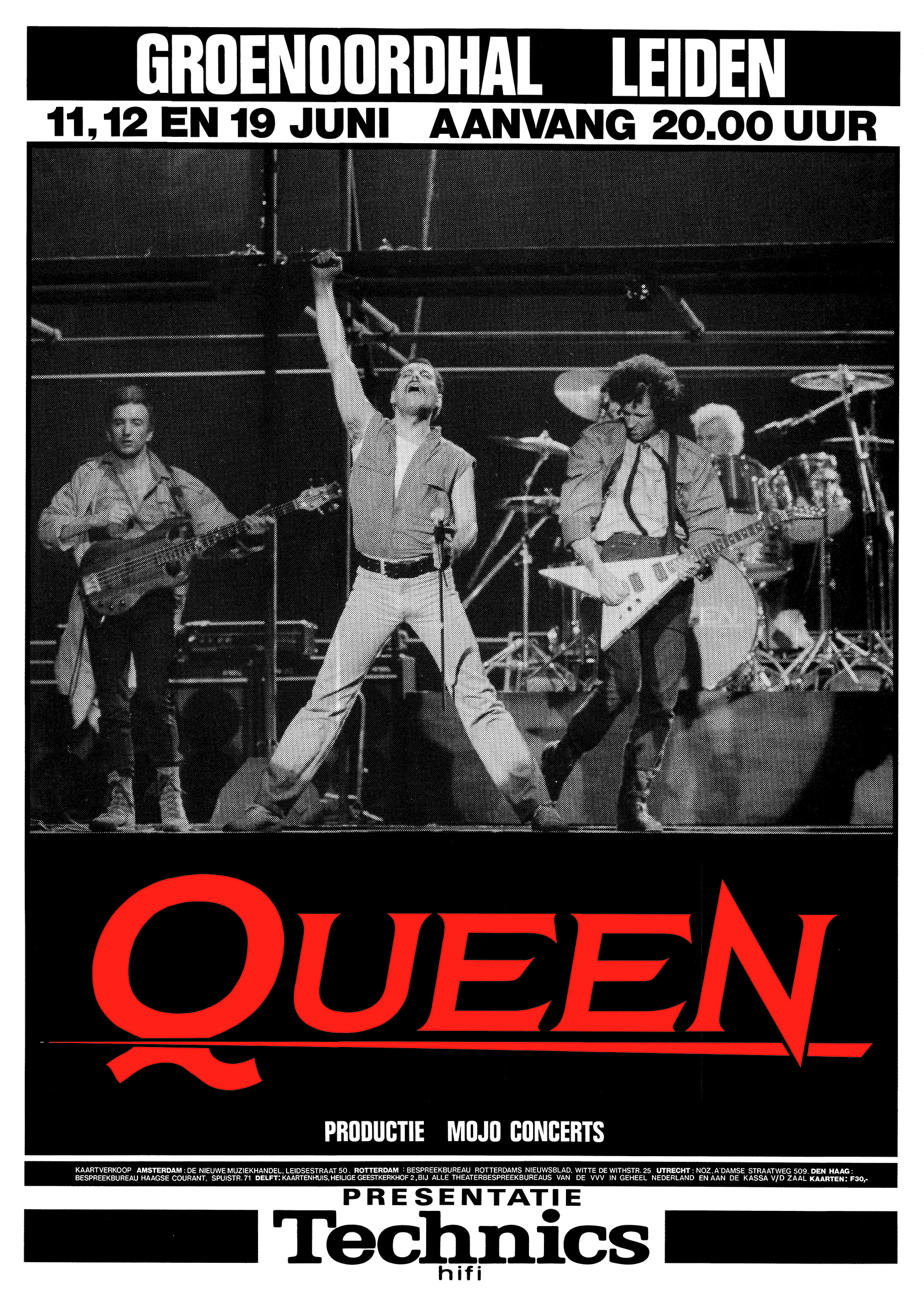 Queen in Leiden on 11.-12.06.1986