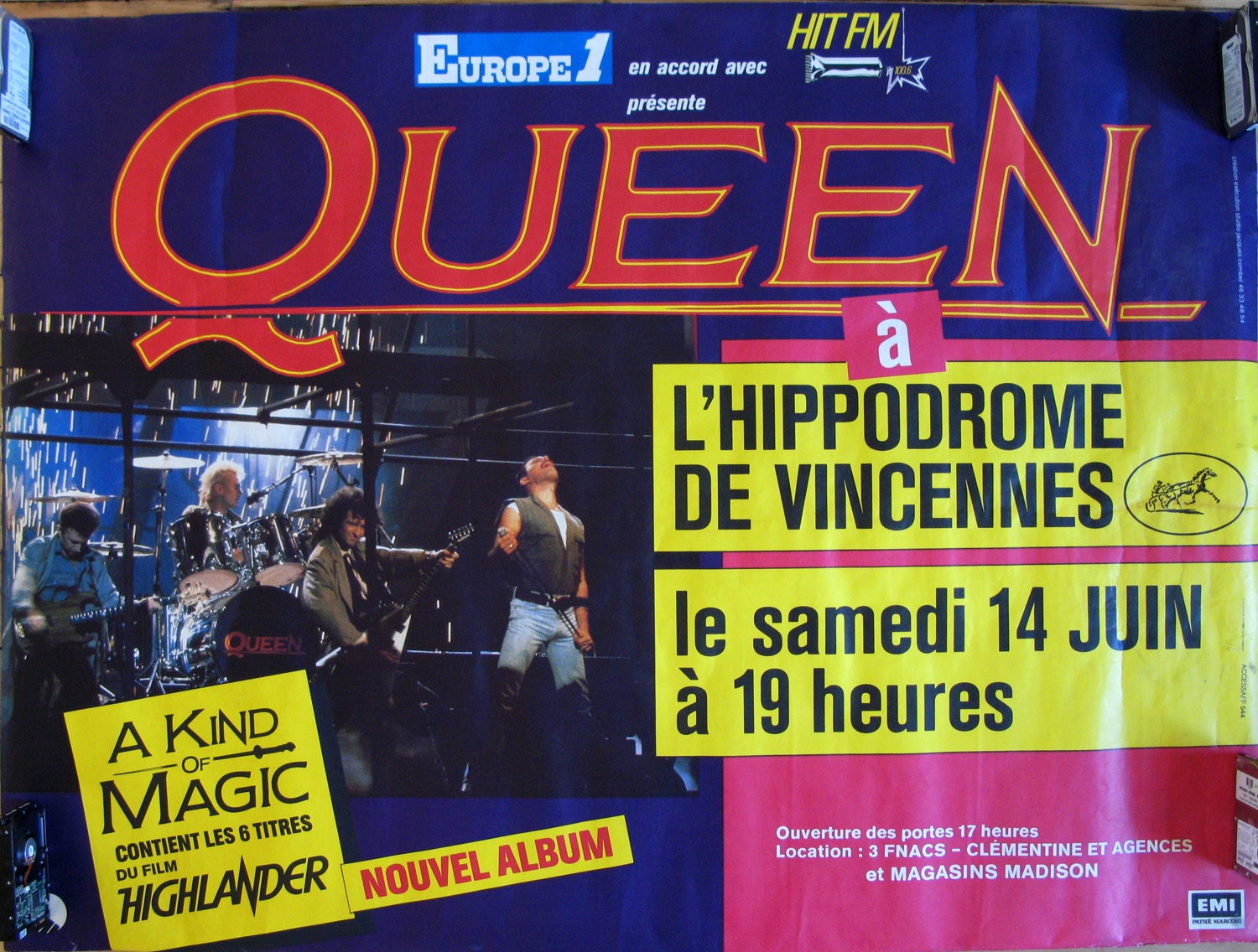 Queen in Paris on 14.06.1986