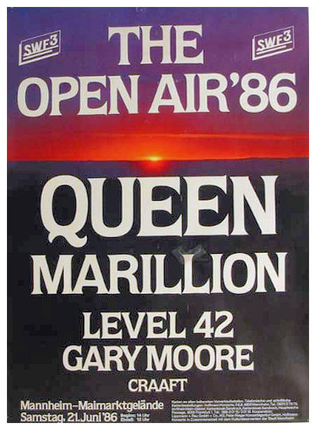Queen in Mannheim on 21.06.1986