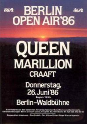 Queen in Berlin on 26.06.1986