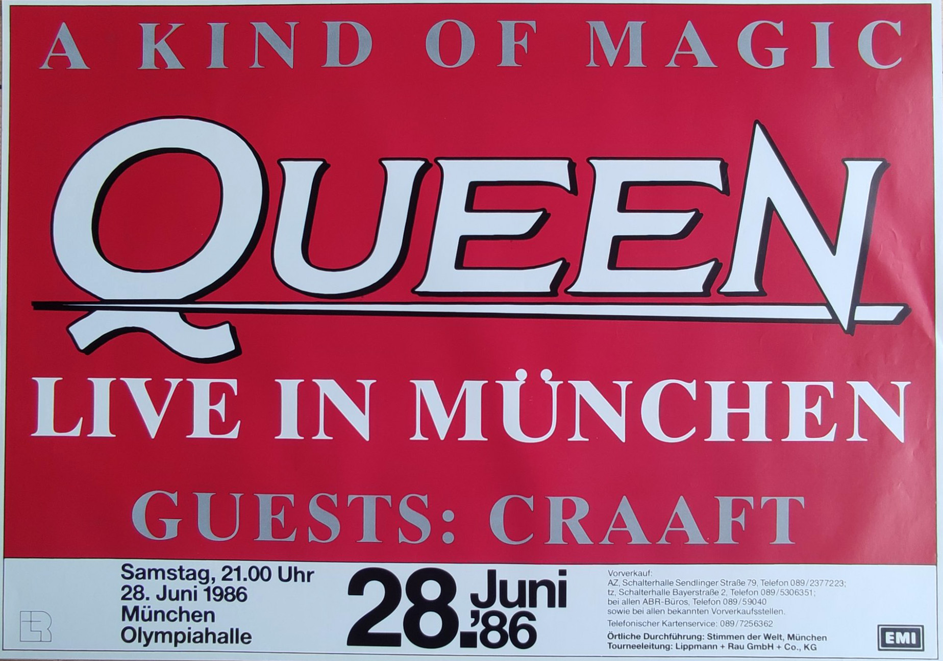 Queen in Munich on 28.06.1986
