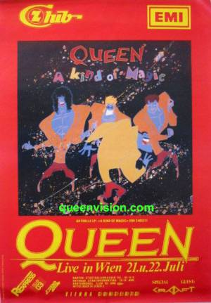Poster - Queen in Vienna on 21.-22.07.1986