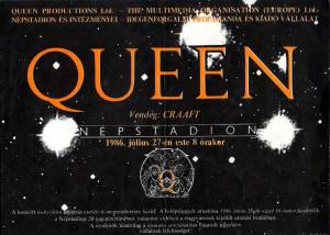 Poster - Queen in Budapest on 27.07.1986
