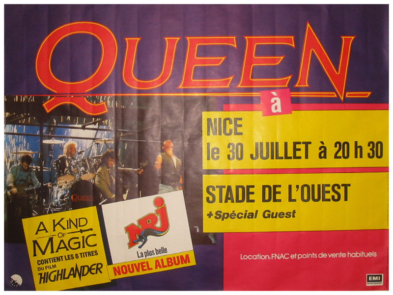 Queen in Frejus on 30.07.1986