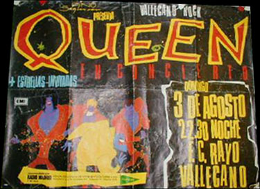 Queen in Madrid on 03.08.1986