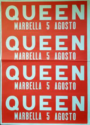 Poster - Queen in Marbella on 05.08.1986