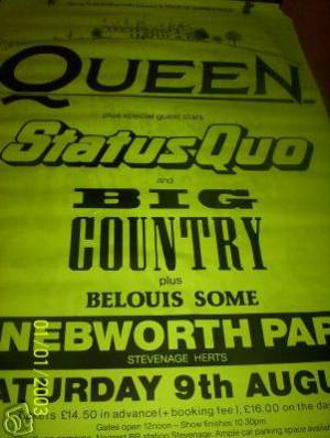 Poster - Queen in Knebworth Park on 09.08.1986