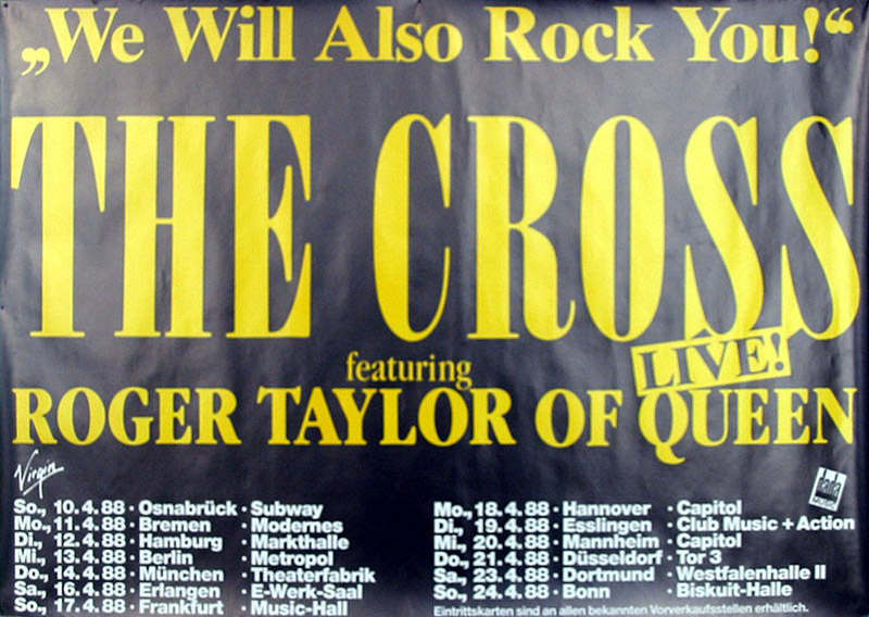 The Cross on tour in Germany in April 1988