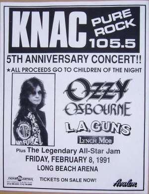 Poster - Brian at Children Of The Night - All Star Jam on 08.02.1991