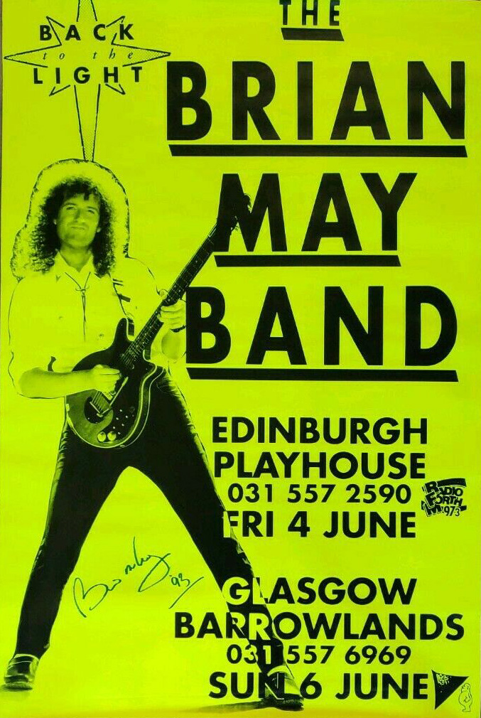 Brian May in Edinburgh in 1993
