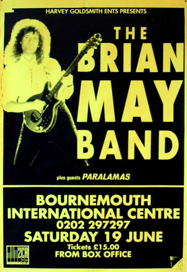 Concert poster: Brian May in Bournemouth on 19.06.1993