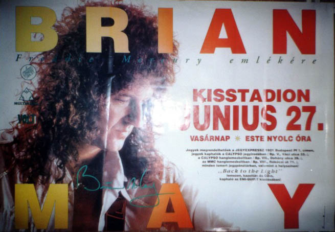 Brian May in Budapest on 27.06.1993