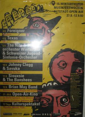 Poster - Brian May in Winterthur on 12.09.1993