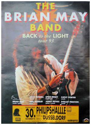 Poster - Brian May in Düsseldorf on 30.11.1993