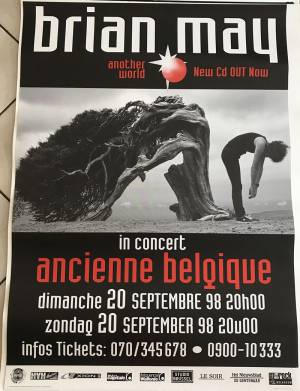 Poster - Brian May in Brussels on 20.09.1998