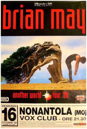 Poster - Brian May in Modena on 16.10.1998 (cancelled)