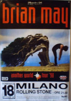 Poster - Brian May in Milan on 18.10.1998