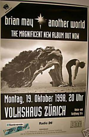 Poster - Brian May in Zürich on 19.10.1998