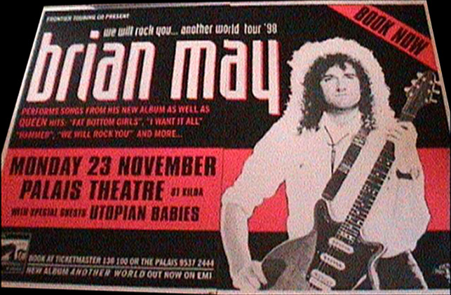 Brian May in Melbourne on 23.11.1998