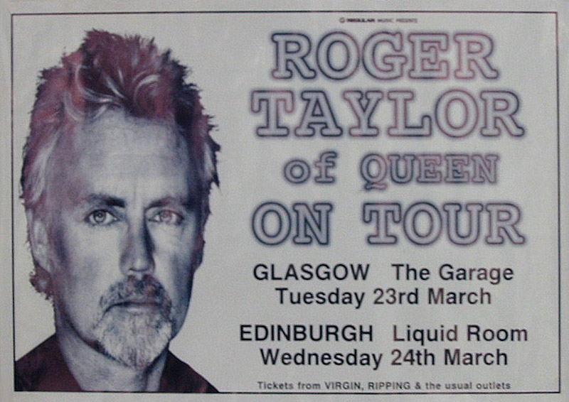 Roger Taylor in Glasgow/Edinburgh on 23./24.03.1999