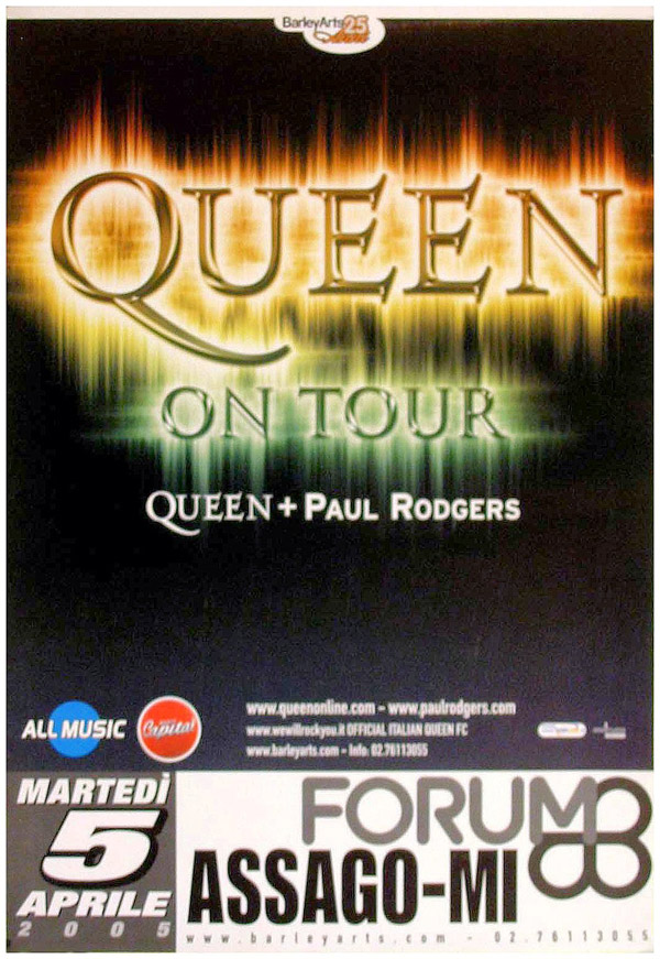 Queen + Paul Rodgers in Milan on 05.04.2005