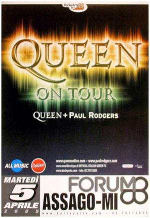 Poster - Queen + Paul Rodgers in Milan on 05.04.2005