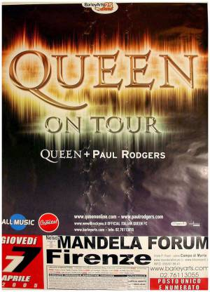 Poster - Queen + Paul Rodgers in Firenze on 07.04.2005