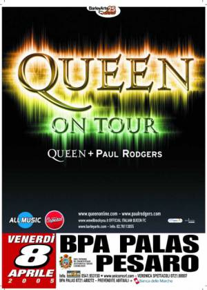 Poster - Queen + Paul Rodgers in Pesaro on 08.04.2005