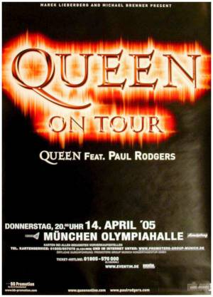 Poster - Queen + Paul Rodgers in Munich on 14.04.2005