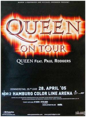 Poster - Queen + Paul Rodgers in Hamburg on 28.04.2005