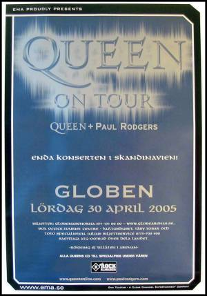 Poster - Queen + Paul Rodgers in Stockholm on 30.04.2005