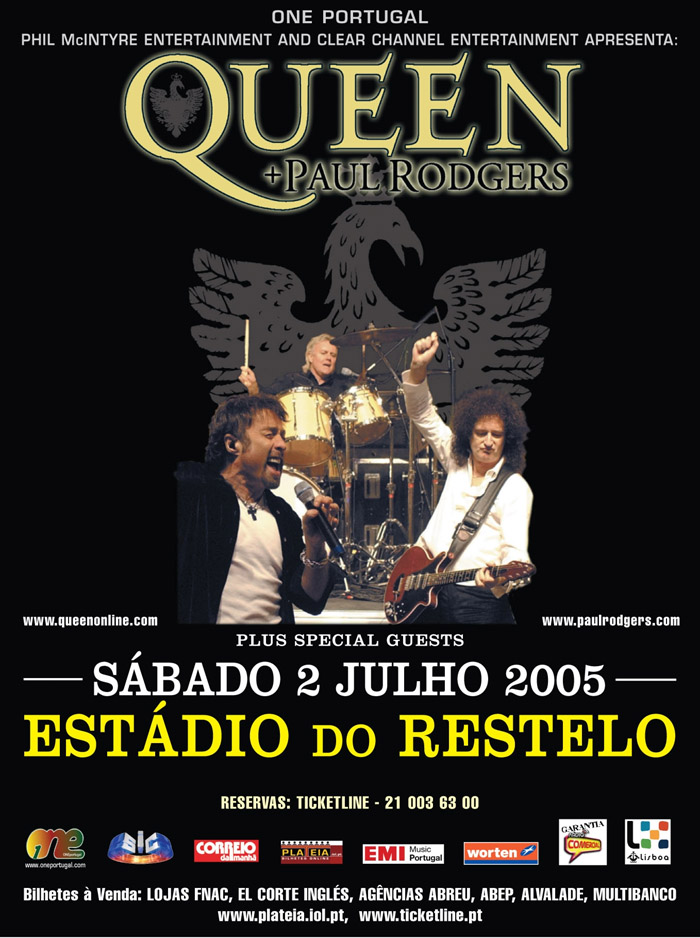 Queen + Paul Rodgers in Lisbon on 02.07.2005