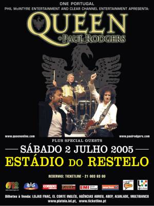 Poster - Queen + Paul Rodgers in Lisbon on 02.07.2005
