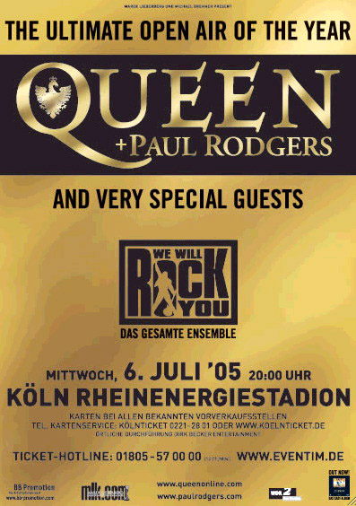 Queen + Paul Rodgers in Cologne on 06.07.2005