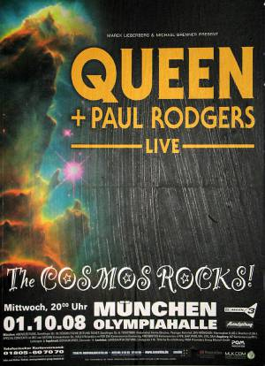 Poster - Queen + Paul Rodgers in Munich on 01.10.2008
