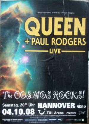 Poster - Queen + Paul Rodgers in Hannover on 04.10.2008